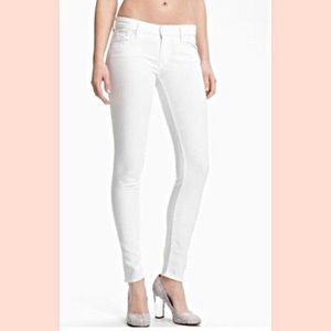MOTHER Denim Looker White Jeans SZ 31 Petite NWOT